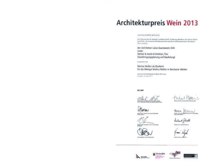 architekturpreiswein