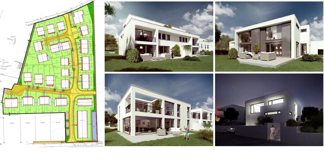 2014 Plan Graphic und vier Render