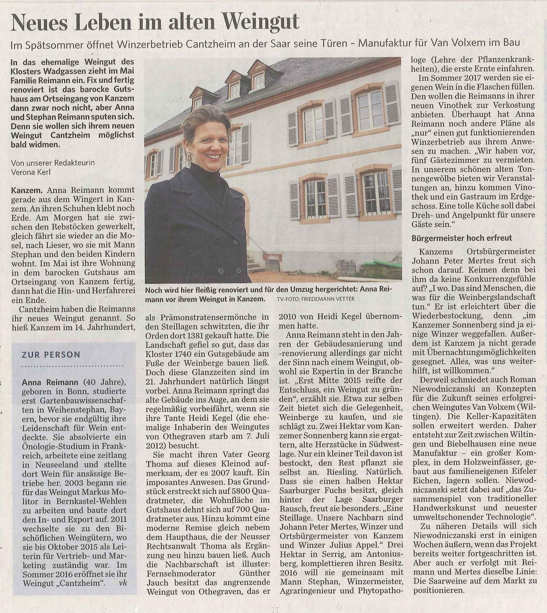 Zeitungsartikel_TV_Trier_Land_BV Kanzem_04042016