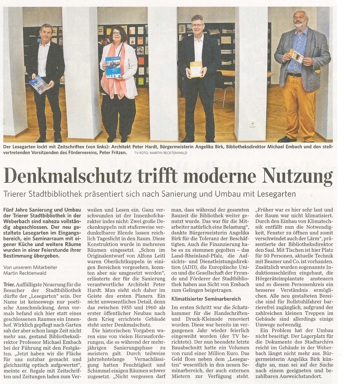 Zeitungsartikel Stadtbibliothek